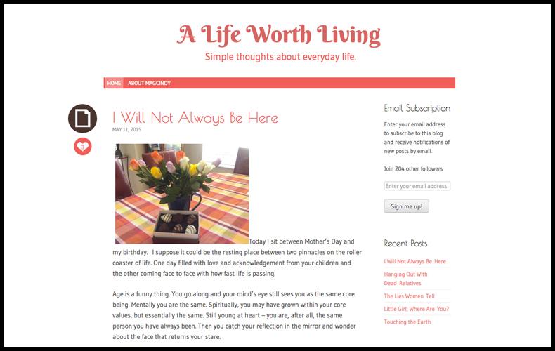 Wordpress Blog by Maggie McLeod